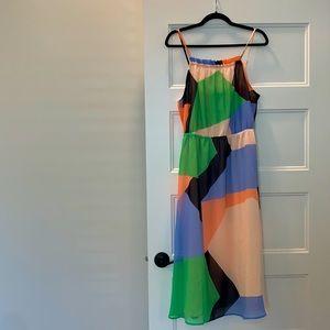 Banana Republic Flowy Color Block Summer Dress